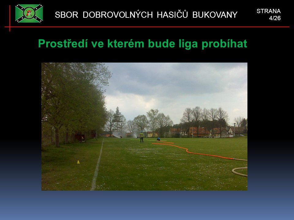 Prostředí ve kterém bude liga probíhat SBOR DOBROVOLNÝCH HASIČŮ BUKOVANY STRANA 4/26