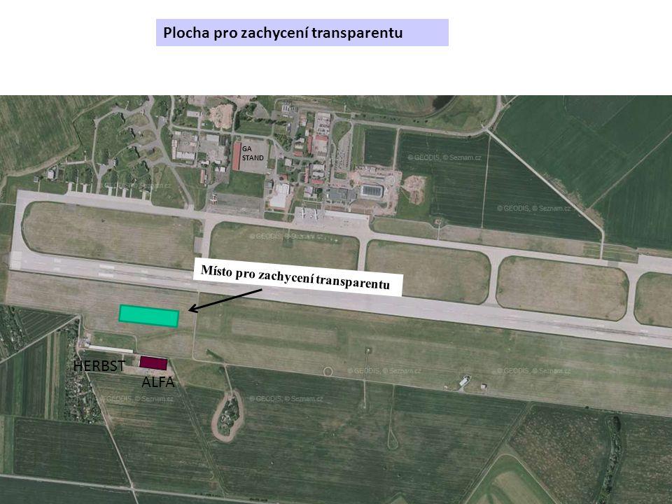 Plocha pro zachycení transparentu GA STAND ALFA HERBST Místo pro zachycení transparentu