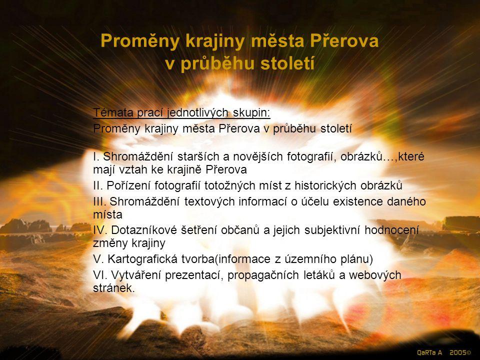 Proměny krajiny města Přerova v průběhu století I.