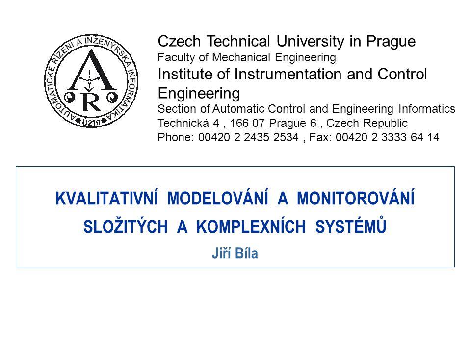 Kvalitativní modelování - příklady Příklad 1: Stavový model.