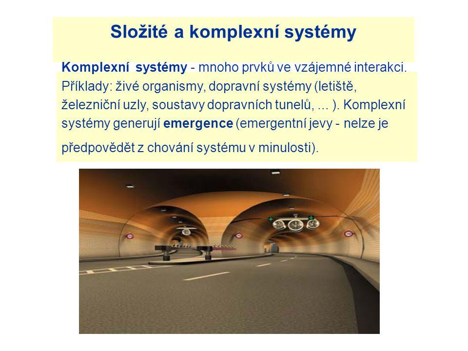 Složité a komplexní systémy Komplexní systémy - mnoho prvků ve vzájemné interakci.