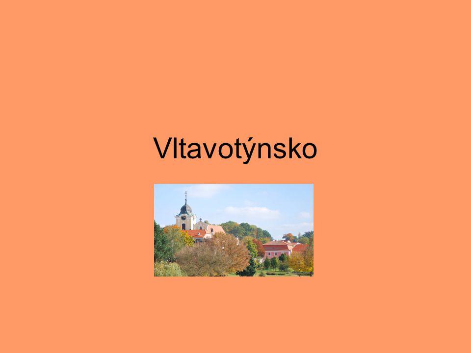 Poloha •Vltavotýnsko – rozsáhlé území vymezené tokem dvou největších jihočeských řek, Vltavy a Lužnice, získalo své jméno podle jednoho z nejstarších sídel českého jihu – Týna nad Vltavou.