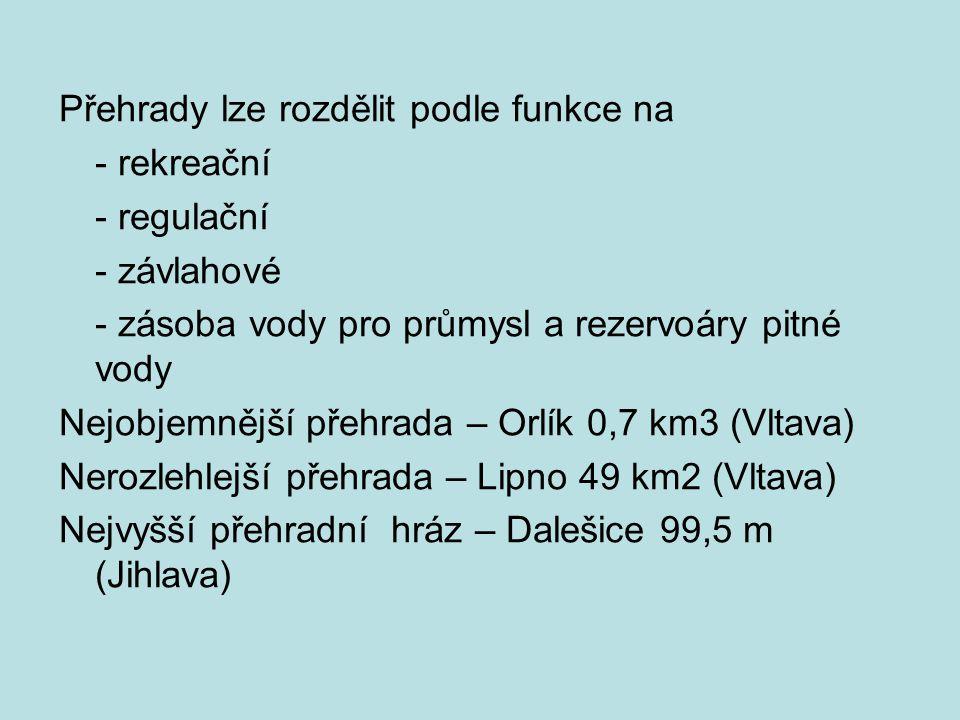 Zásoby podzemních vod má ČR dostatek, ale jsou nerovnoměrně rozloženy.