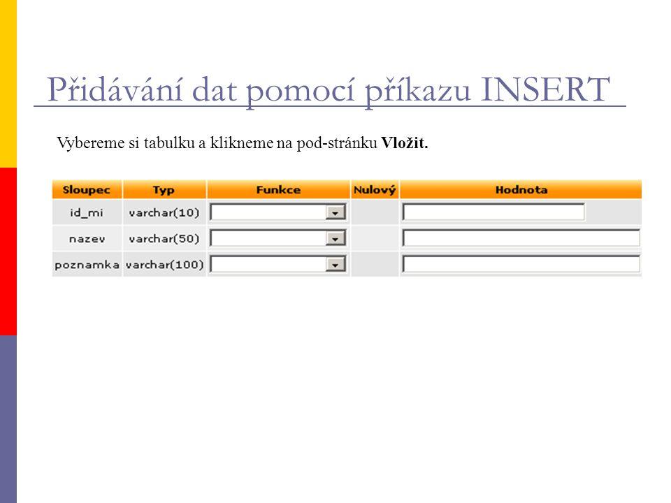 Import dat do tabulky z textového souboru
