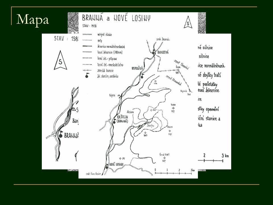 Dráha Františkov  začínala v dnes již neexistující zastávce Františkov s vlečkou a překládácí rampou  nacházelo se zde hlavní zázemí s maštalí pro koně, remízou pro vozíky, dílnou na opravy a ubytovnou pro dělníky  trať byla dlouhá 5,7 km, vedla přibližně v ose dnešní silnice v údolí Polomského potoka  za rozvětvením následovala opět úvrať a několik odboček na obě strany pokračujících svážnicemi až po konec hlavní větve u hájovny Josefová  kromě této sítě se plánovalo i rozšíření pod vrchol Troják a napojení na sesterskou dráhu z Kolštejna