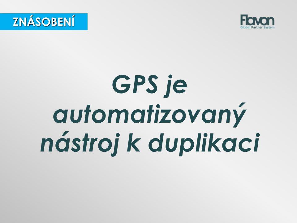 ZNÁSOBENÍ ZNÁSOBENÍ GPS je automatizovaný nástroj k duplikaci