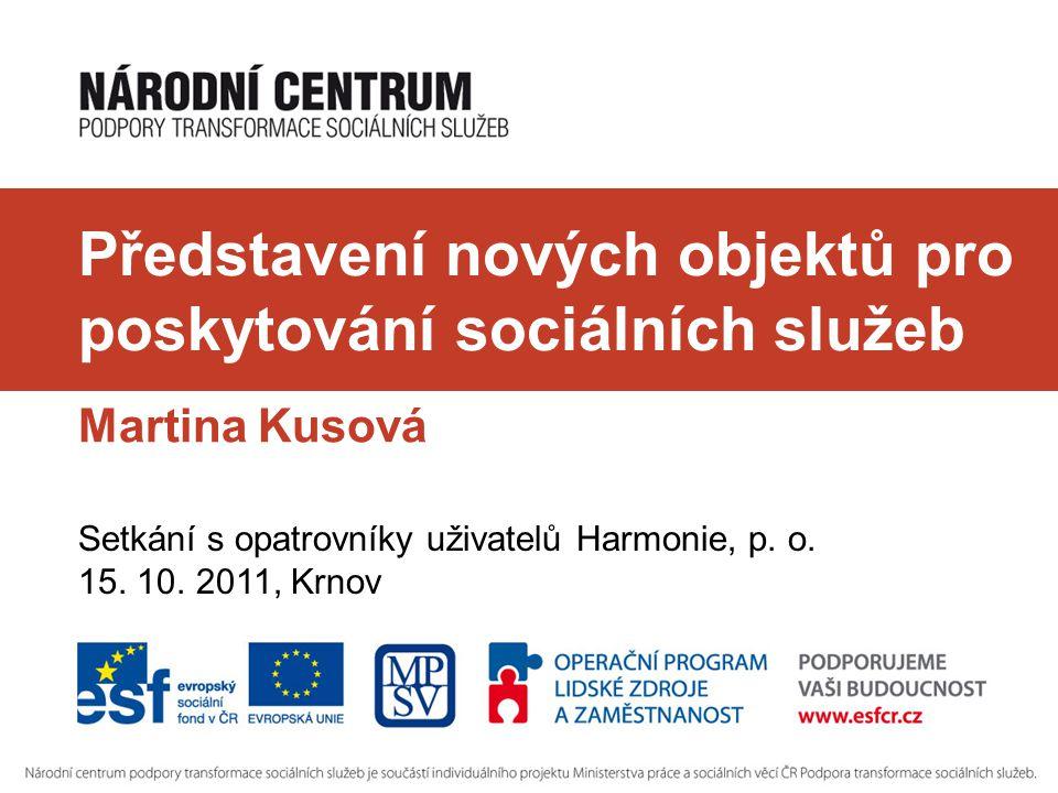 Uživatelé DOZP Za Drahou Krnov budou moci v budoucnu využívat tyto nové sociální služby:  DOZP ve Vrbně pod Pradědem  Chráněné bydlení v Rýmařově  Chráněné bydlení v Osoblaze