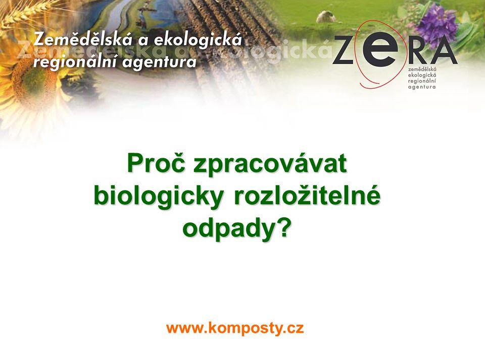 Proč zpracovávat biologicky rozložitelné odpady?