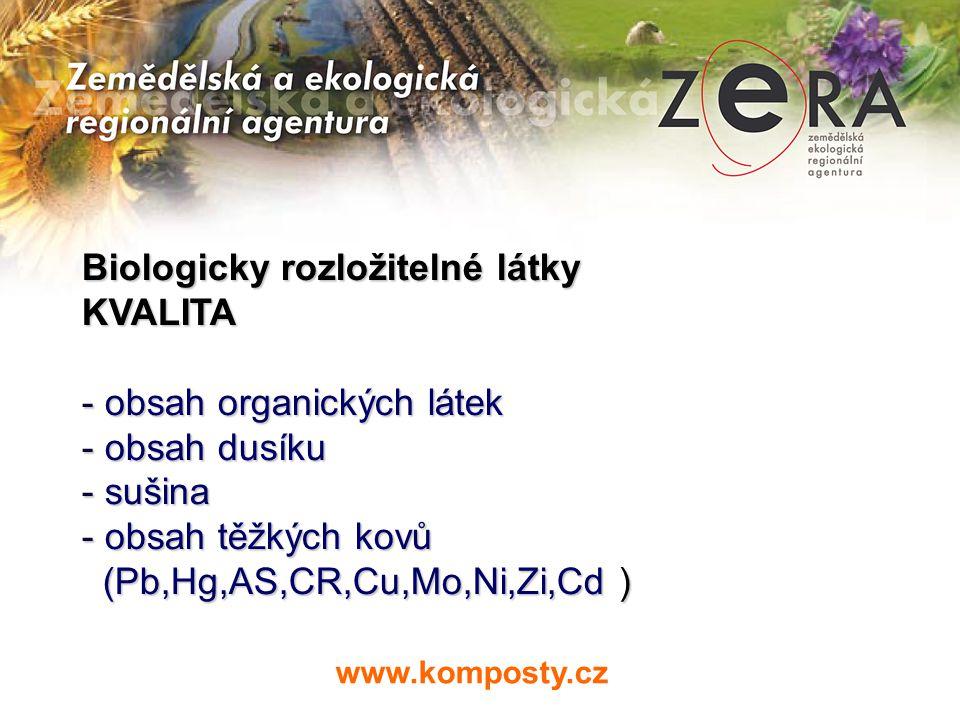 Biologicky rozložitelné látky - MNOŽSTVÍ A MÍSTO VZNIKU - logistika sběru – objemy nádob a kapacita svozové techniky svozové techniky - logistika zpracování – kapacita www.komposty.cz