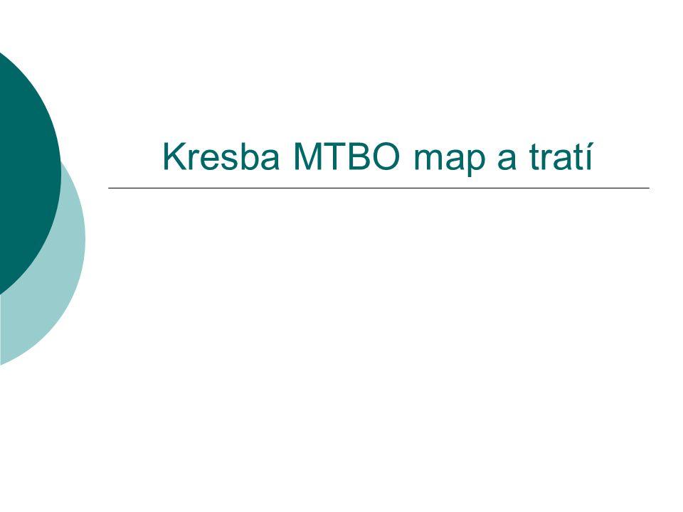 Kresba MTBO map a tratí