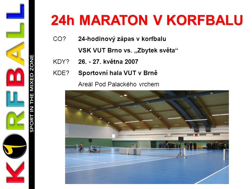 24h MARATON V KORFBALU CO.24-hodinový zápas v korfbalu VSK VUT Brno vs.