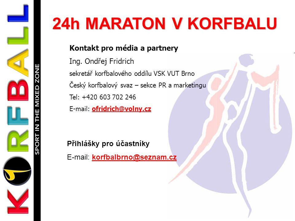 24h MARATON V KORFBALU Kontakt pro média a partnery Ing.