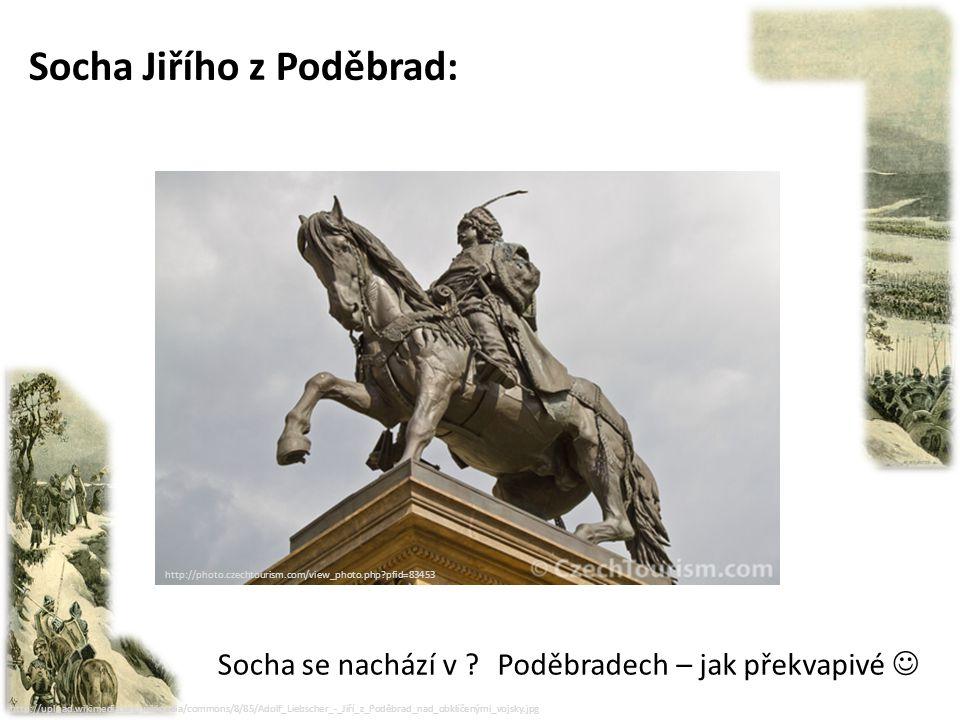 """http://upload.wikimedia.org/wikipedia/commons/8/85/Adolf_Liebscher_-_Jiří_z_Poděbrad_nad_obklíčenými_vojsky.jpg Zemským správcem a korunovace: - Čechy měl Jiří spravovat do doby než dospěje nezletilý král Ladislav Pohrobek - Jiří jako správce nadále usiloval a mír mezi českými kališníky a katolíky – proto nazývám """"králem dvojího lidu - r."""