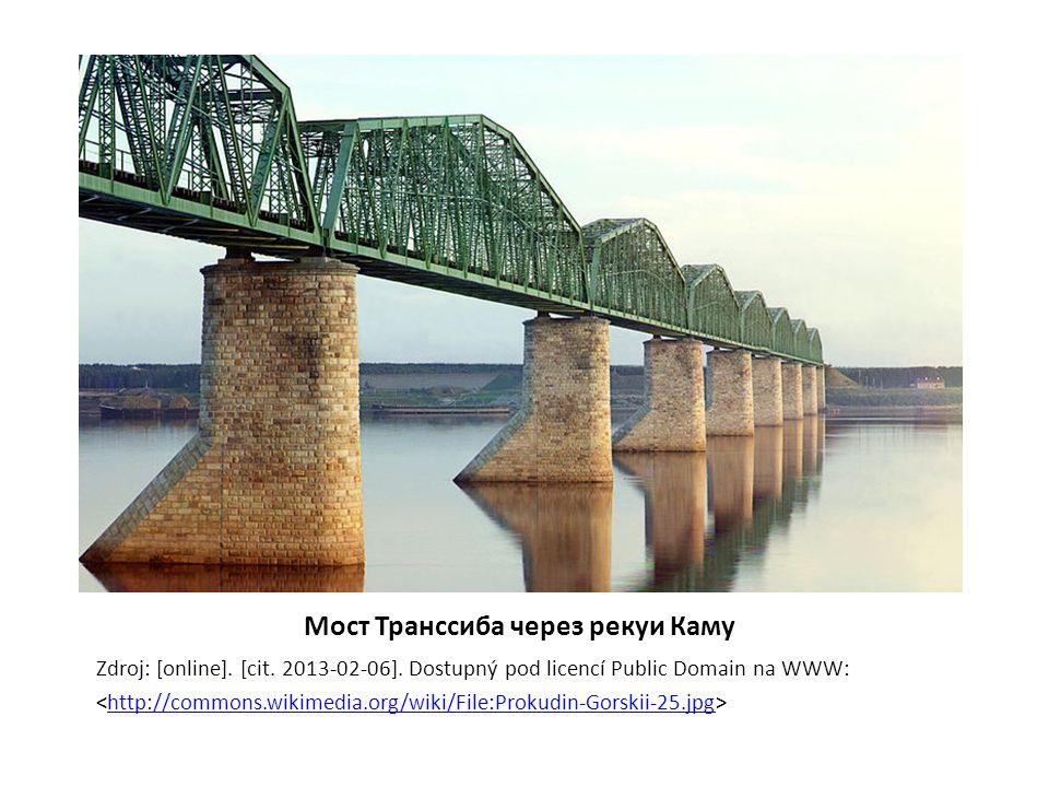 Mост Транссиба через рекуи Каму Zdroj: [online]. [cit. 2013-02-06]. Dostupný pod licencí Public Domain na WWW: http://commons.wikimedia.org/wiki/File: