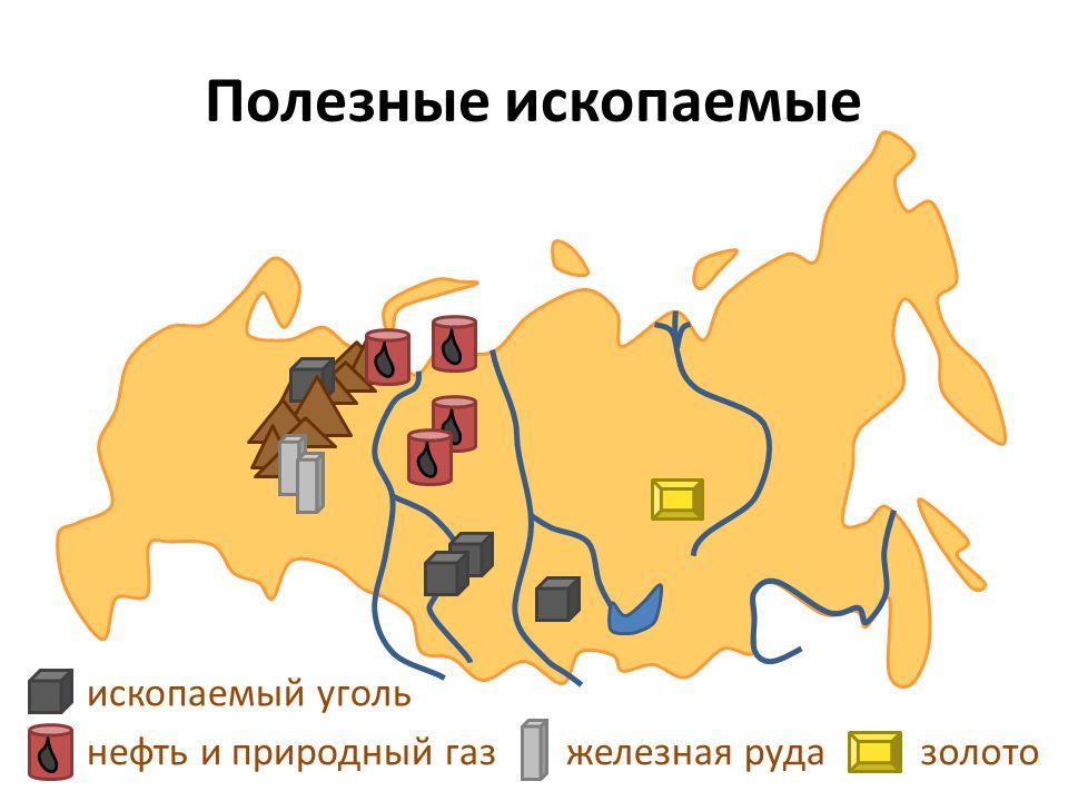 Полезные ископаемые нефть и природный газ ископаемый уголь железная рудазолото