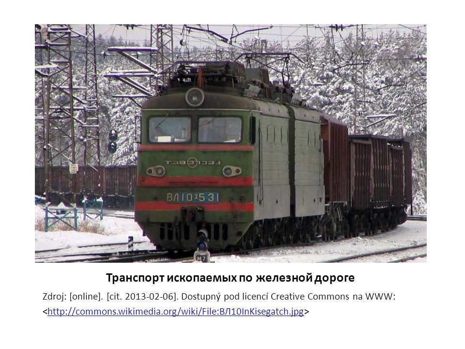 Транспорт ископаемых по железной дороге Zdroj: [online].