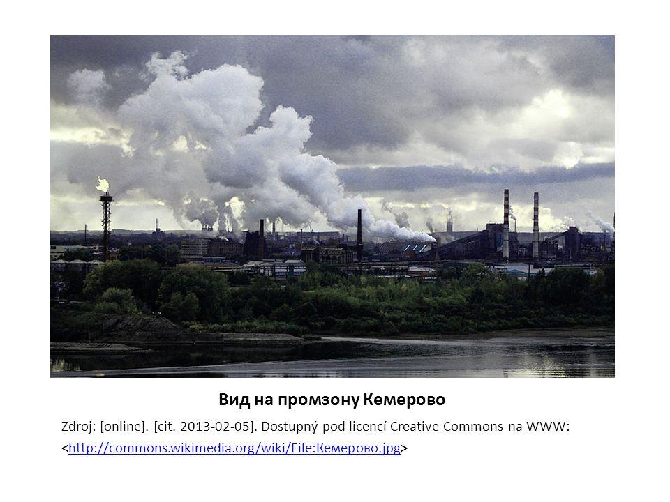 Вид на промзону Кемерово Zdroj: [online]. [cit. 2013-02-05]. Dostupný pod licencí Creative Commons na WWW: http://commons.wikimedia.org/wiki/File:Кеме