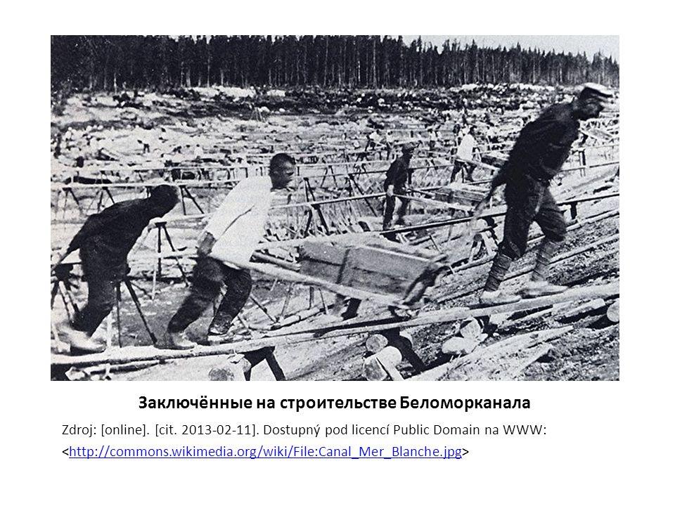 Заключённые на строительстве Беломорканала Zdroj: [online].