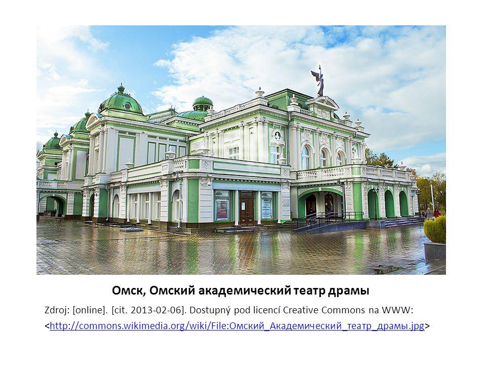 Омск, Омский академический театр драмы Zdroj: [online].