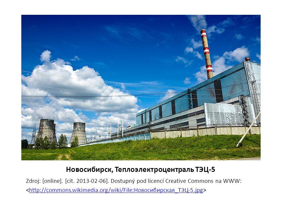 Новосибирск, Теплоэлектроцентраль ТЭЦ-5 Zdroj: [online]. [cit. 2013-02-06]. Dostupný pod licencí Creative Commons na WWW: http://commons.wikimedia.org