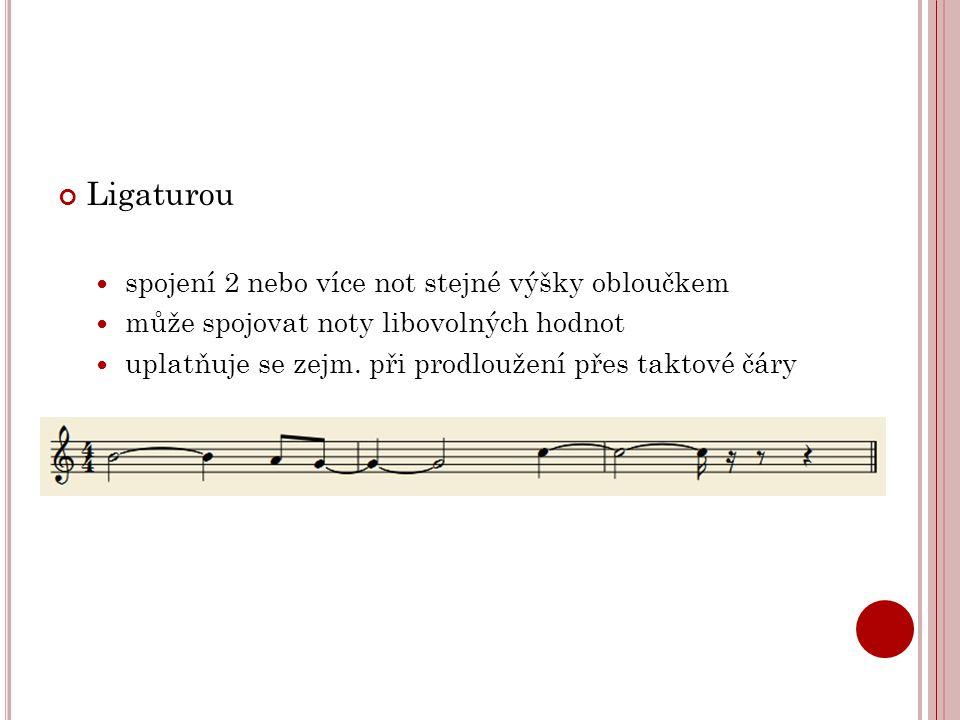 Korunou  píše se nad nebo pod notou nebo pomlkou  většinou se píše na konci části skladeb nebo na konci skladby  délku prodloužení určuje interpret dle svého cítění