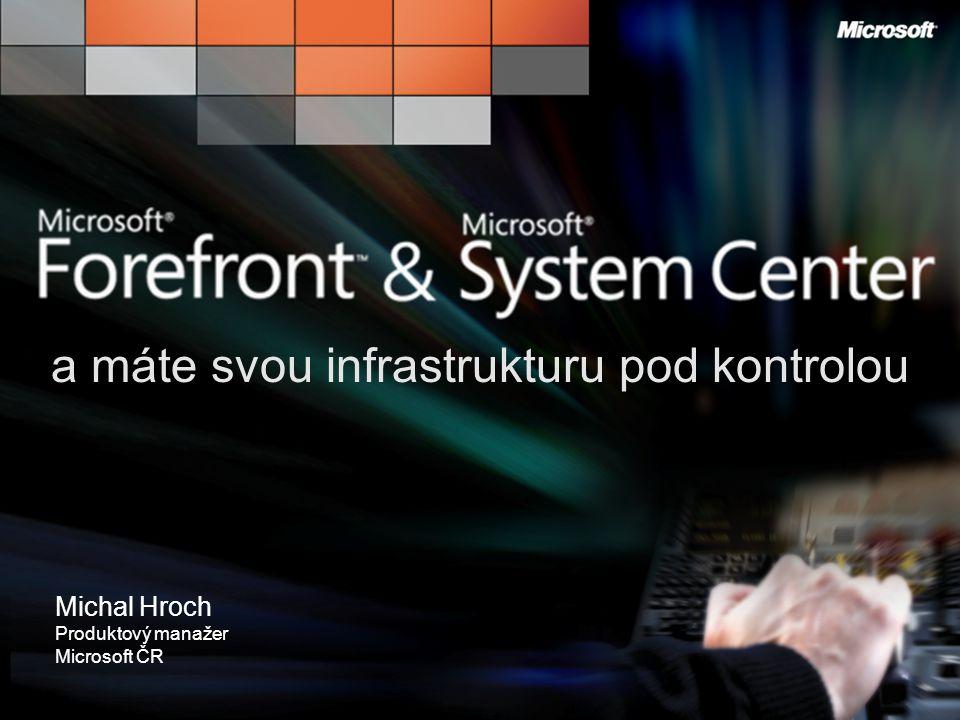 Poznejte jak je skvělé Mít to pod Kontrolou a máte svou infrastrukturu pod kontrolou Michal Hroch Produktový manažer Microsoft ČR