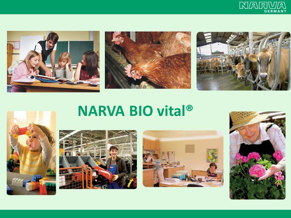 Výsledky studie Snížení spotřeby krmiva a vody Během prvních 18 týdnů chovu se spotřeba krmiva snížila přibližně o 5% pod osvětlením NARVA BIO vital® 958, respektive každý pták zkonzumoval o 250g méně a farma dosáhla celkové úspory 7 tun na krmivu.