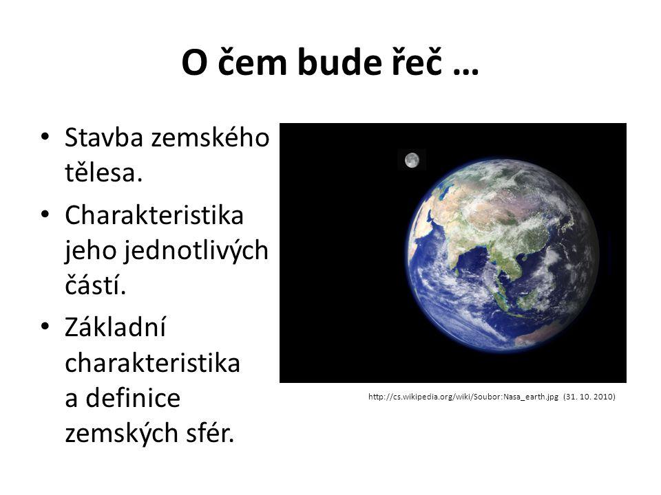 O čem bude řeč … • Stavba zemského tělesa. • Charakteristika jeho jednotlivých částí. • Základní charakteristika a definice zemských sfér. http://cs.w