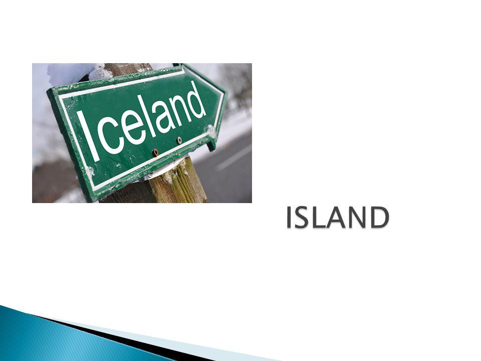  ostrovní stát v severozápadní části Evropy u pobřeží Atlantského oceánu  99,8 % Islandu leží na stejnojmenném ostrově - Island, který má rozlohu 103 000 km²  celková rozloha Islandu - 103 125 km²  se svou rozlohou je druhým největším ostrovem v Evropě po Velké Británii  Hlavní město - Reykjavík (nejsevernější hlavní město světa)