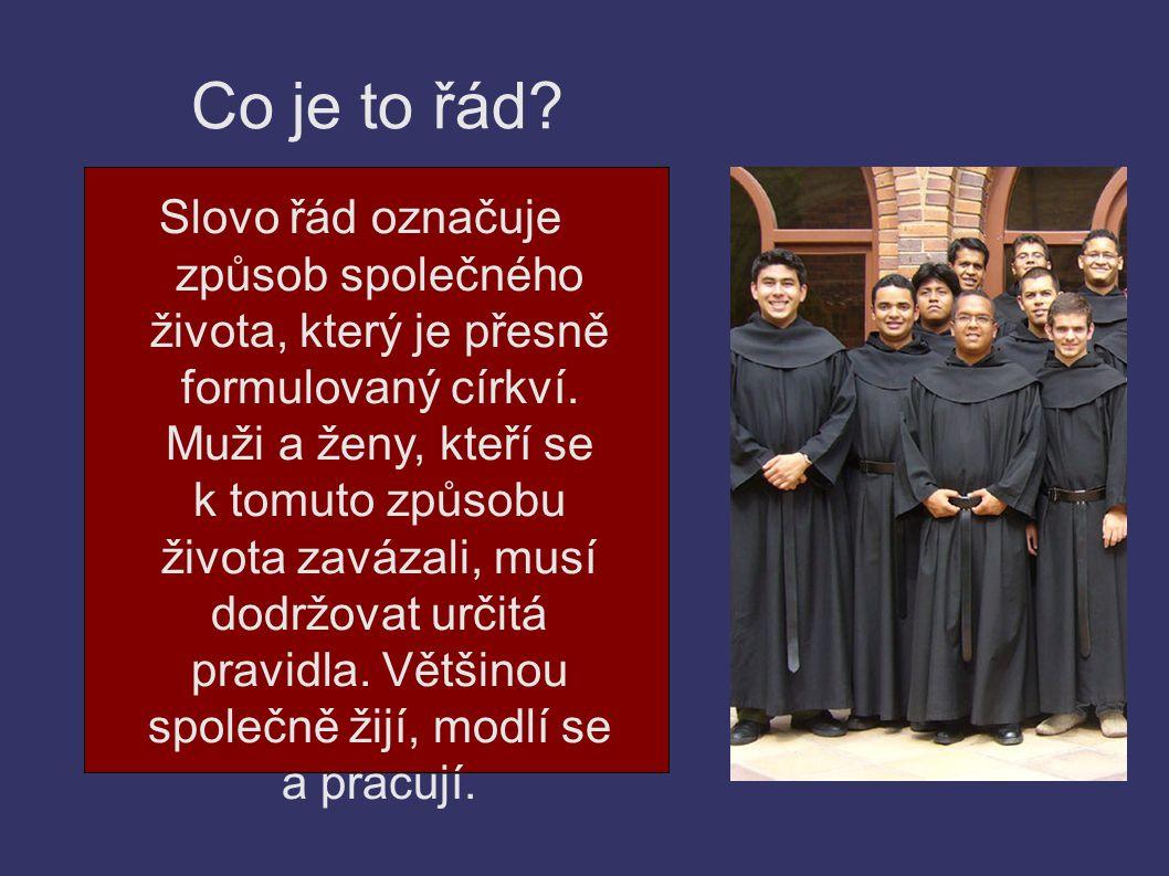 Život v řádu Muži a ženy, kteří se rozhodli pro vstup do řádu, se nazývají řeholníci (řeholnice), nebo také mniši (mnišky).