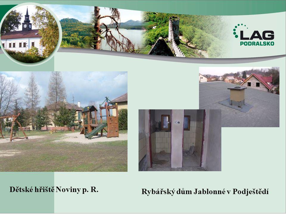 Dětské hřiště Noviny p. R. Rybářský dům Jablonné v Podještědí