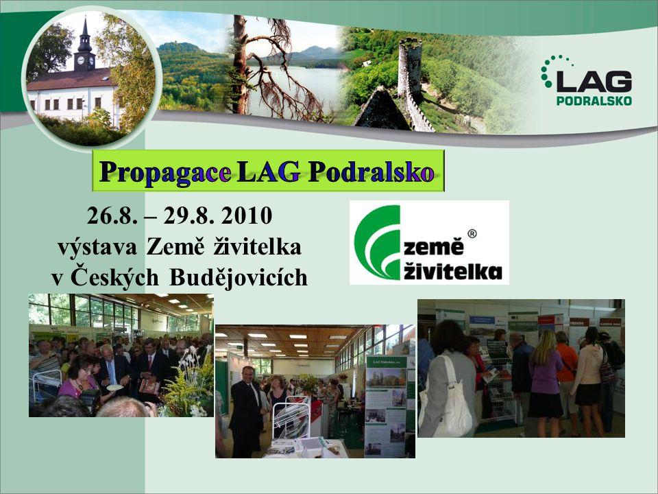 26.8. – 29.8. 2010 výstava Země živitelka v Českých Budějovicích