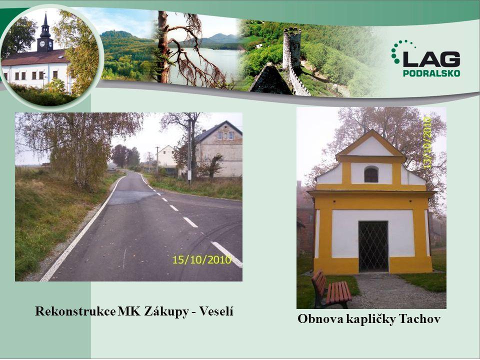Rekonstrukce MK Zákupy - Veselí Obnova kapličky Tachov