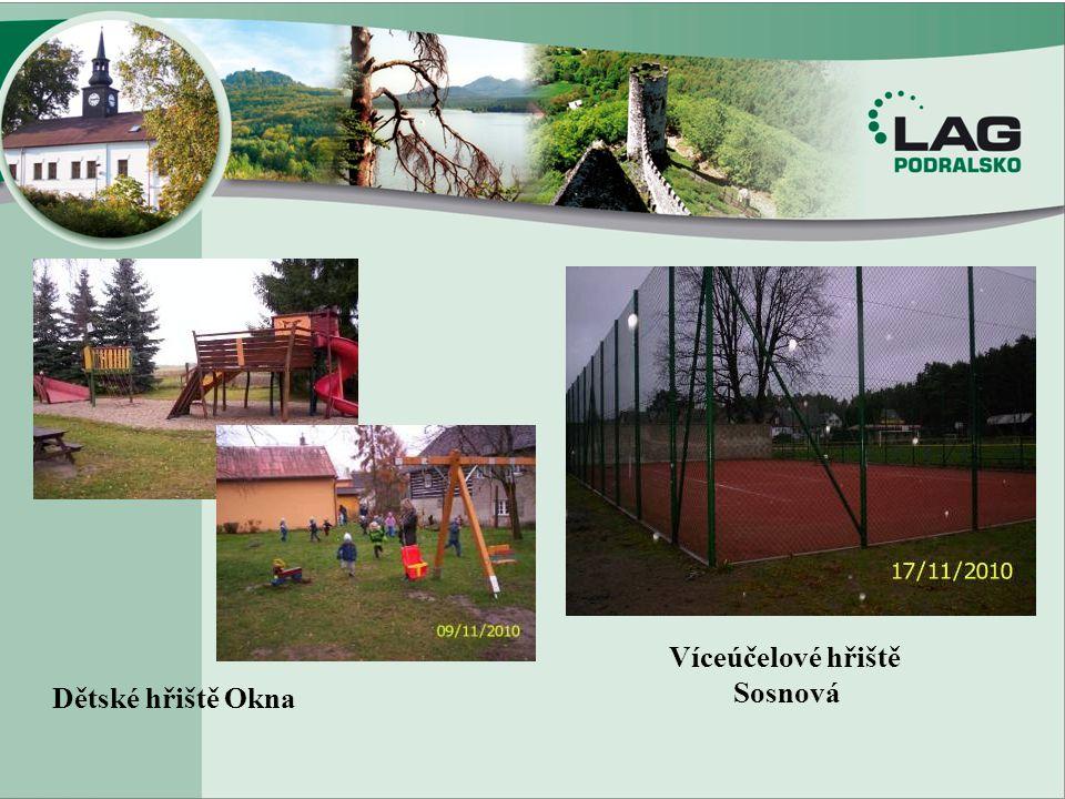 Dětské hřiště Okna Víceúčelové hřiště Sosnová