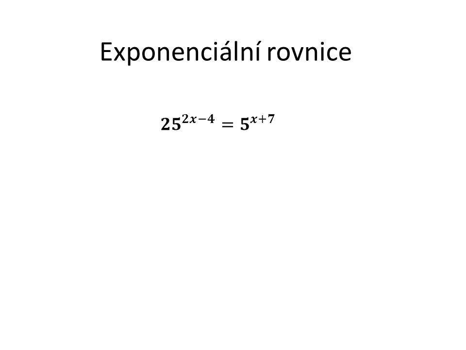 Exponenciální rovnice
