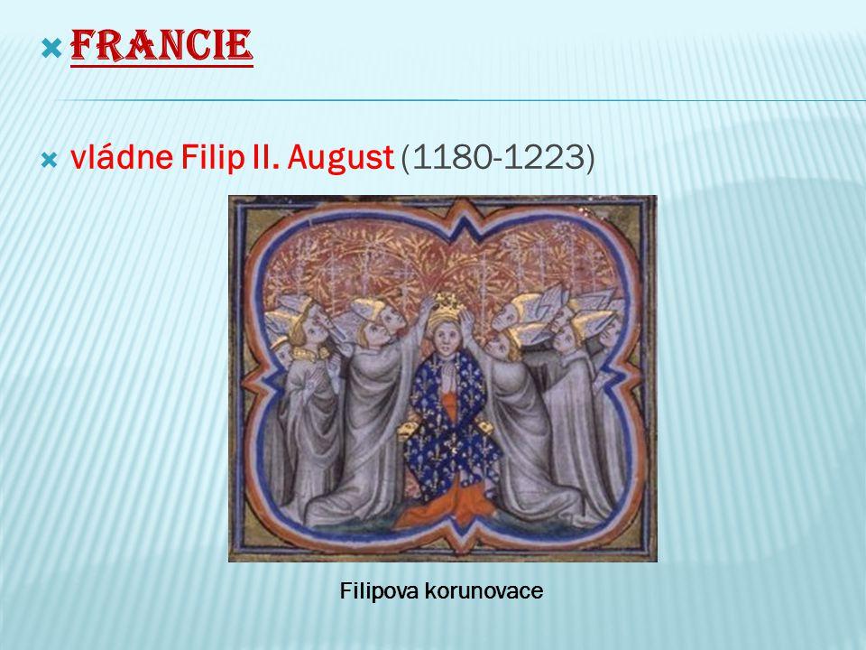  Ten se snažil zvětšit rodový majetek a rozšířit území  získal většinu území ve Francii patřících Anglii  Počátkem 13.