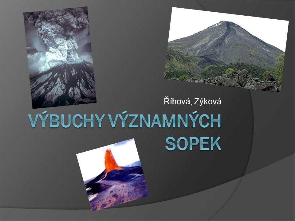 Obsah  Jak a proč vzniká sopka  Jak sopka vypadá  Vesuv  Krakatoa  St. Helena  Tambora