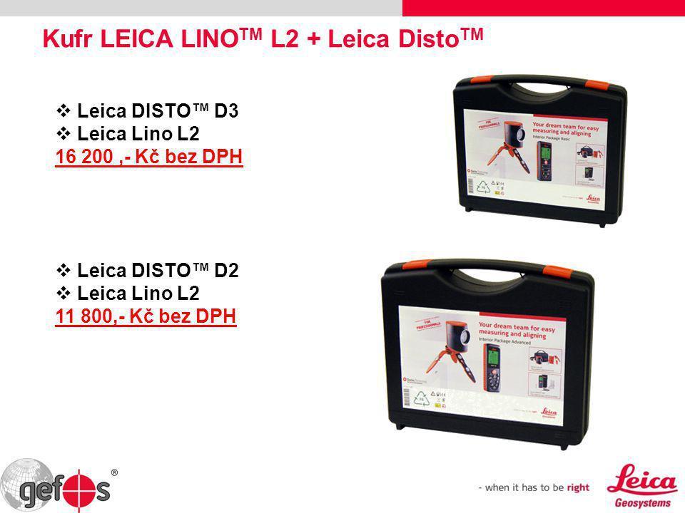Kufr LEICA LINO TM L2 + Leica Disto TM  Leica DISTO™ D3  Leica Lino L2 16 200,- Kč bez DPH  Leica DISTO™ D2  Leica Lino L2 11 800,- Kč bez DPH