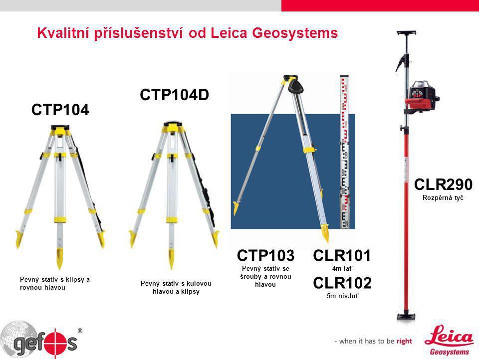 Nástavec pro maximální výšku až 246cm mm-měřítko • hliníkový, 4.0 kg (střední) • pracovní rozsah 84 - 246 cm • libela • mm stupnice Stativ Leica CET 103 pod rotační lasery Protiskluzová gumová krytka nohou