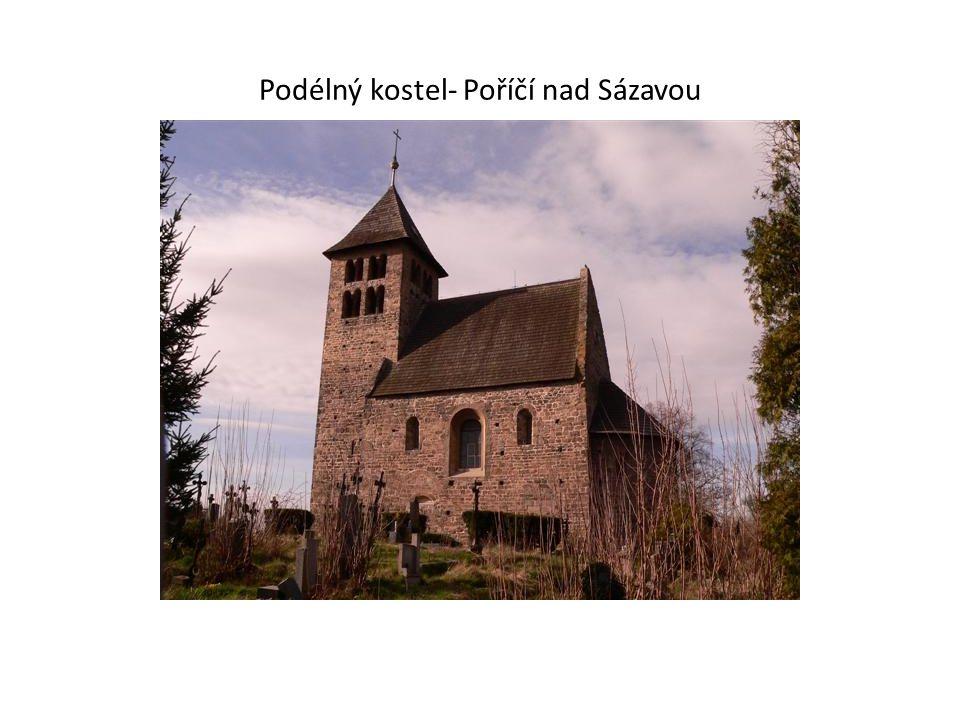 Podélný kostel- Poříčí nad Sázavou