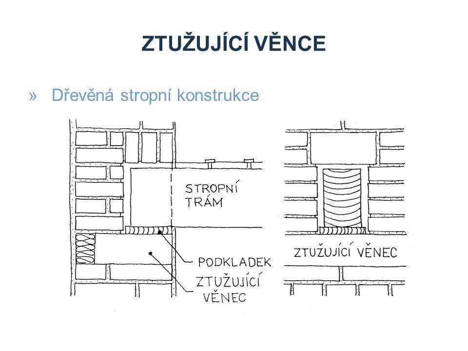 ZTUŽUJÍCÍ VĚNCE »Dřevěná stropní konstrukce