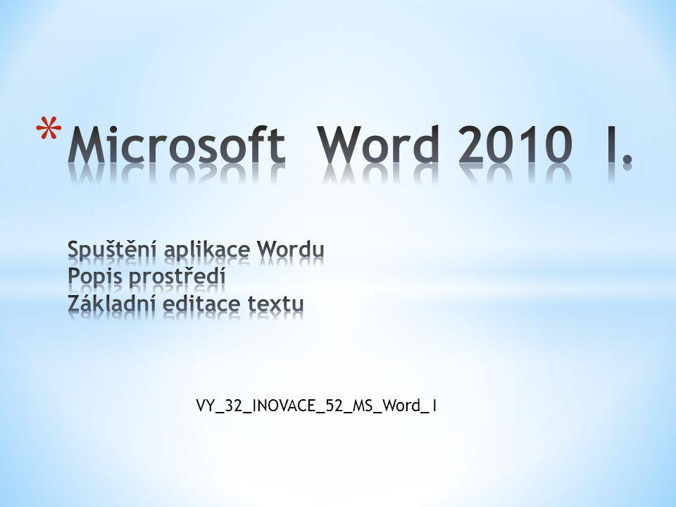 Odstavec ve Wordu je každý text oddělený na začátku a na konci klávesou Enter.