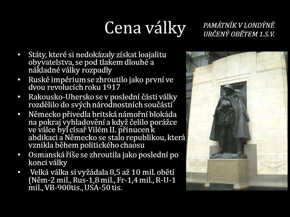1917-1918 VÝCHODNÍ FRONTA BOLŠEVICKÁ REVOLUCE (listopad 1917-březen 1918) • Po abdikaci cara Mikuláše II.