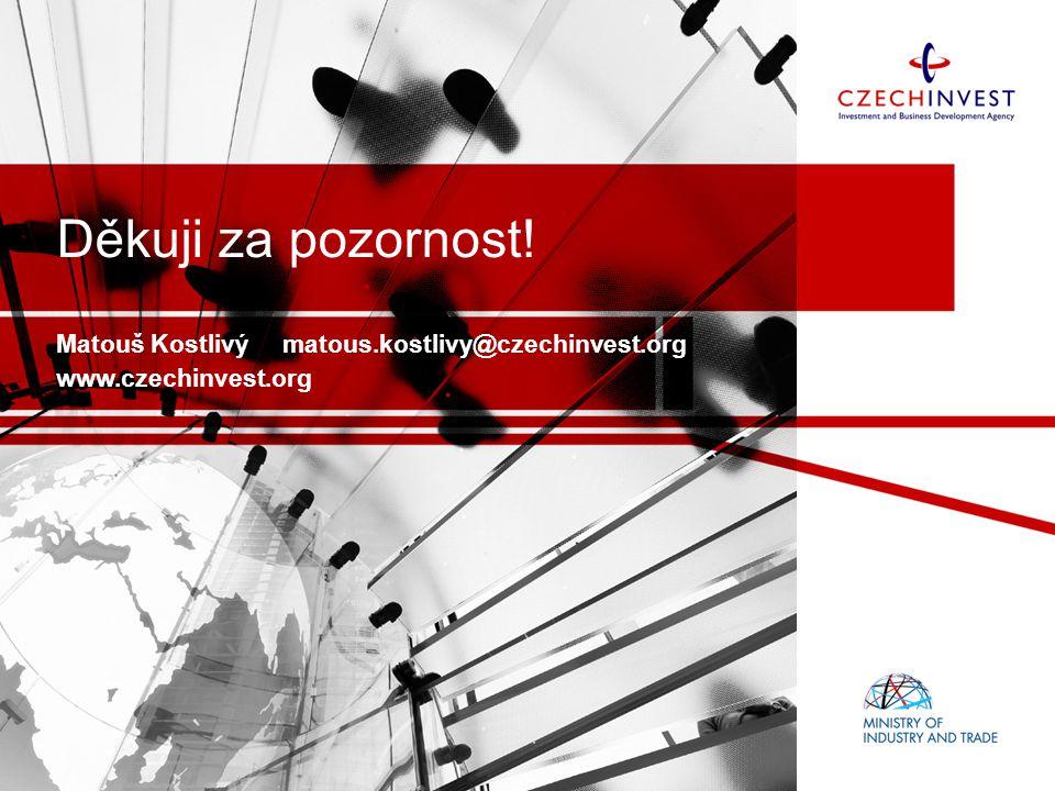 Děkuji za pozornost! Matouš Kostlivý matous.kostlivy@czechinvest.org www.czechinvest.org