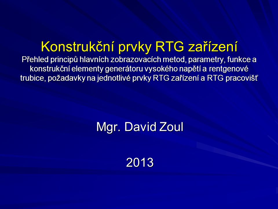 Spektrum RTG záření