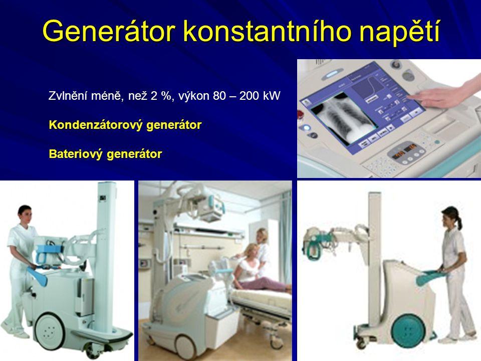 Kryt rentgenky Kryt rentgenky: ochrana rentgenky, odvod tepla a izolace VN (olejová náplň), stator, stínění primárního neužitečného záření (olovo), vlastní filtrace (olej, výstupní okénko krytu).