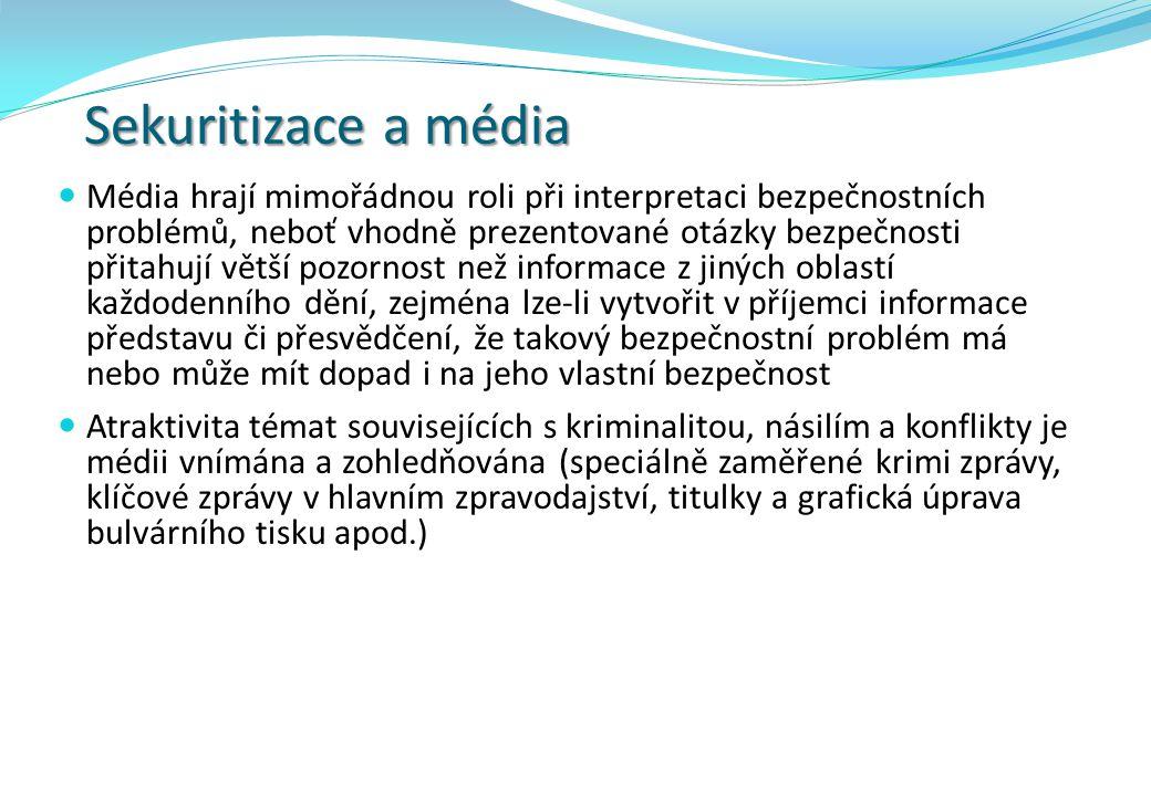 Role a vliv novináře  Podobu, obsah, načasování, emocionální podání informace apod.