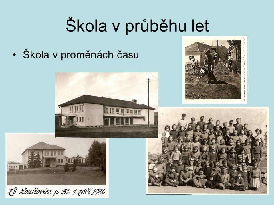 Škola v průběhu let •Škola v proměnách času