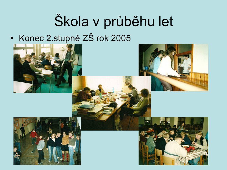 Škola v průběhu let •Konec 2.stupně ZŠ rok 2005