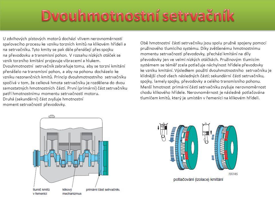 U zdvihových pístových motorů dochází vlivem nerovnoměrností spalovacího procesu ke vzniku torzních kmitů na klikovém hřídeli a na setrvačníku. Tyto k